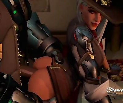 Ashe Gets Pounded - Overwatch